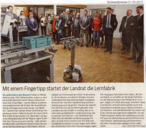 Lernfabrik 4.0 geht an den Start