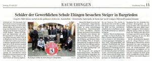 Besuch bei Steiger in Burgrieden