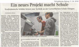 Kaufmännische Schüler lernen nun Technik an der Gewerblichen Schule Ehingen