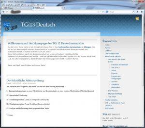 Schulprojekt – Website zum Thema Deutschunterricht